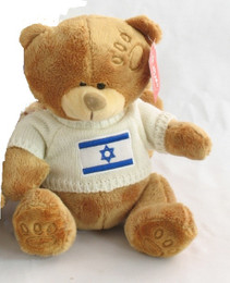 Brown Bear with Israel Flag