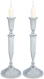 Diamond Pattern Nickel Candlesticks