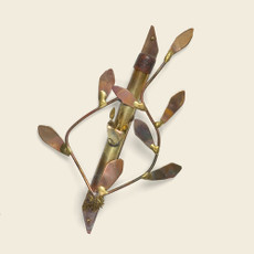 Gary Rosenthal Leaf Design Copper Mezuzah