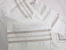 Gabrieli Silk Tallit Set With White Background 6