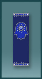 Royal Blue Hamsa Car Mezuzah