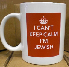 I Can't Keep Calm I'm Jewish Mug