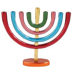 Yair Emanuel Multi-Color Aluminum Hanukah Menorah