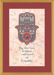 Hamsa Home Blessing Framed Print
