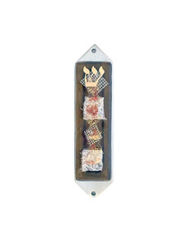 Bronze Collage Mezuzah