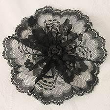 Black With Black Rosette