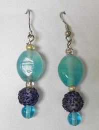 Fused Glass Pierced Earrings 1