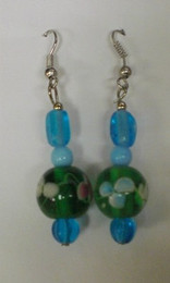 Fused Glass Pierced Earrings 2