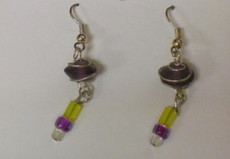 Fused Glass Pierced Earrings 4