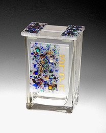 Beames Designs White Celestial Tzedakah Box