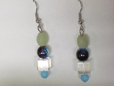 Fused Glass Pierced Earrings 5