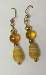 Fused Glass Pierced Earrings 7