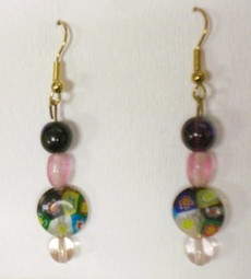 Fused Glass Pierced Earrings 10