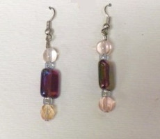 Fused Glass Pierced Earrings 11