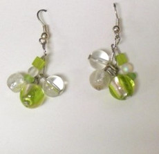 Fused Glass Pierced Earrings 15
