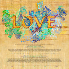 Golden Love Ketubah