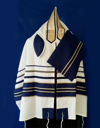 Michal Blue & Gold Tallit Set