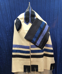 Shades of Blue Tallit Set