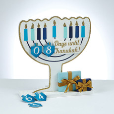 Wood Chanukah Countdown Menorah
