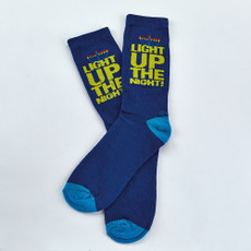 """Light Up The Night"" Adult Crew Socks"