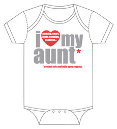 """I Love (heart) My Aunt"" Onesie"