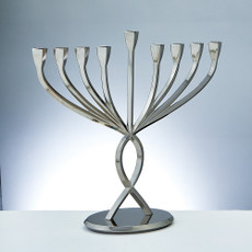 """Facets Of Light"" Aluminum Menorah"