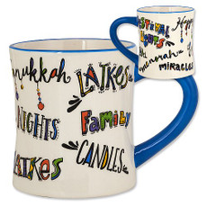 Chanukah Nights...Chanukah Fun...Family-Latkes-Candles Mug