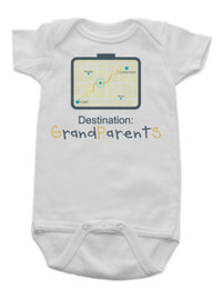 GPS To Grandma's House Onesie