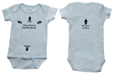 """Daddy Proof"" Onesie - Blue"