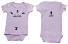 """Daddy Proof"" Onesie - Pink"