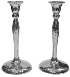 Hammered NIckel Candlesticks