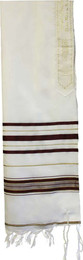 Acrylic Tallit - Maroon and Gold