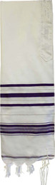 Acrylic Tallit - Purple and Silver