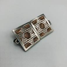 Pewter & Gold Star of David Tallit Clip