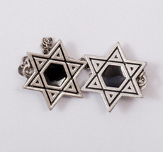Pewter & Black Cut-Out Star of Davide