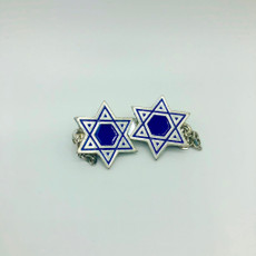Pewter & Blue Cut-Out Star of David