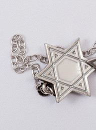 Pewter & Cream Cut-Out Star of David