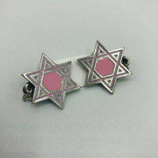 Pewter & Pink Cut-Out Star of David