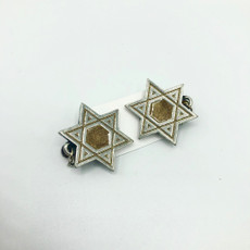 Pewter & Gold Cut-Out Star of David