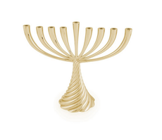 Michael Aram Gold Tone Twist Menorah