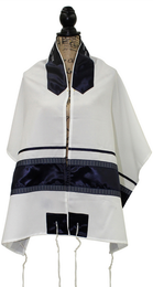 Yad Natan Navy Stripe Tallit Set