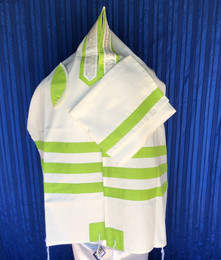 Michal Lime Green Tallit Set