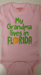 My Grandma Lives In Florida // But I Live In Her Heart Onesie