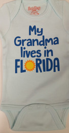My Grandma Lives In Florida//But I Live In His Heart Onesie
