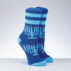 "Chanukah ""Cozy Slipper Socks"" - Menorah Design"