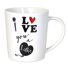 """I Love You A Latke"" Ceramic Mug"