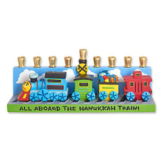 Whimsical Train Menorah