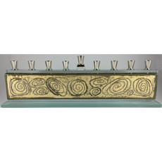 Beames Designs Bronze Swirl Glass Menorah