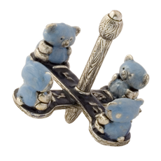 Teddy Bear Dreidel - Blue