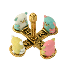 Teddy Bear Dreidel - Multicolor